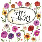 Alex Clark Art - Greeting Card - Little Sparkles - Birthday Flowers